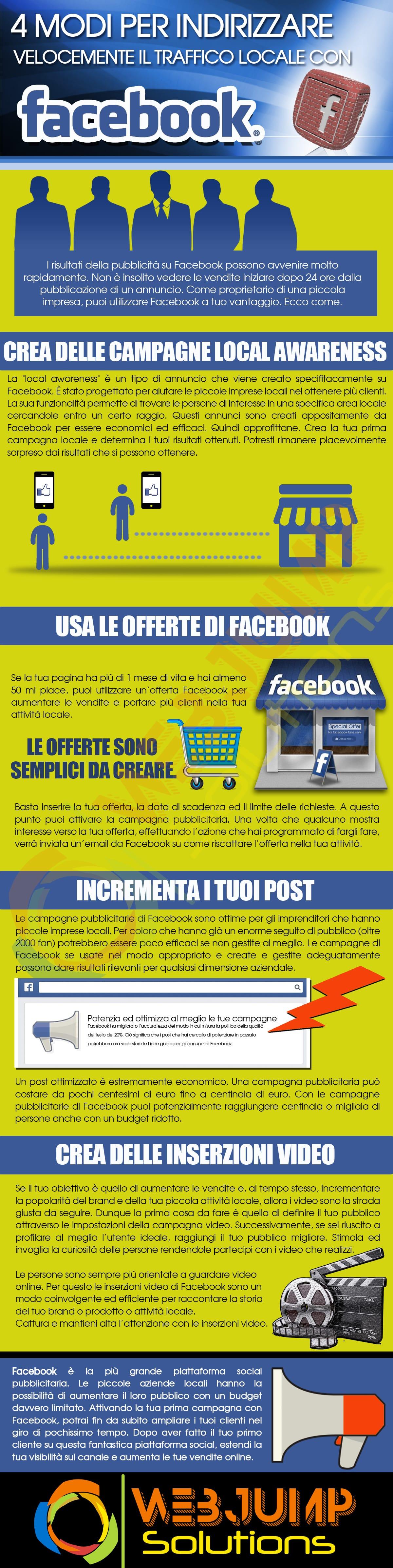modi per indirizzare traffico locale con Facebook