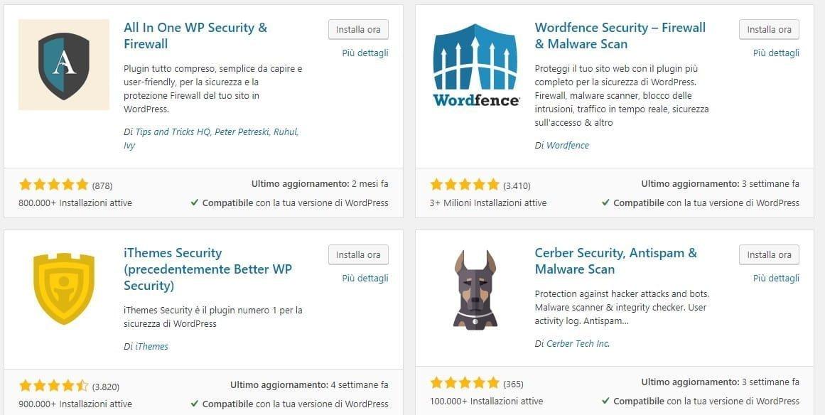 come proteggere sito wordpress